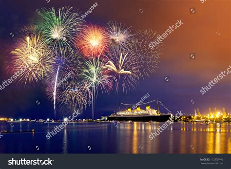 new years fireworks in california forth of july fireworks at california stock photo 112578440