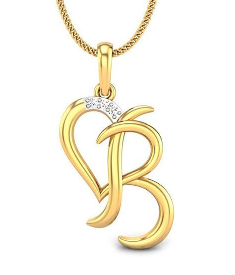 candere b yellow gold 14k pendant buy