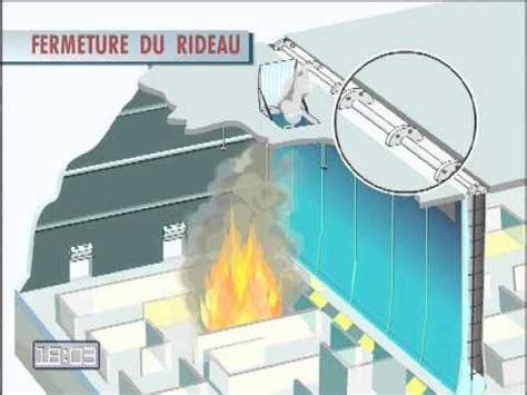 water curtain fire protection the fire x large fire and smoke curtain in action youtube