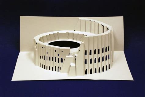 colosseum pop up card template kirigami colosseum kirigami kirigami and