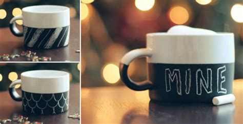 chalkboard paint mugs how to make chalkboard mug diy crafts handimania