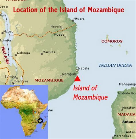 mozambique in world map unesco world heritage site island of mozambique family