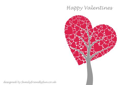 card valentines day card template