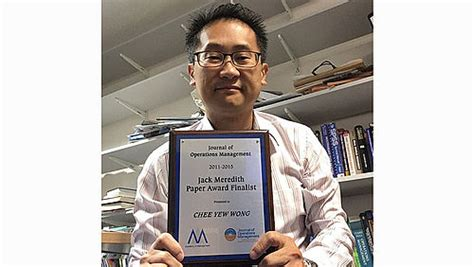 Leeds School Of Business Mba Requirements by Professor Chee Wong Awarded Runner Up For The