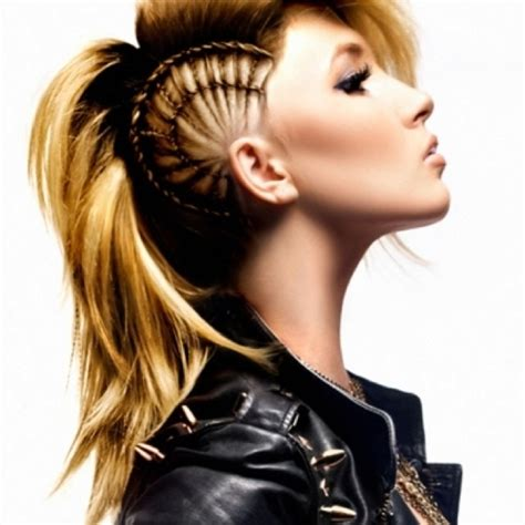 first impression with a punk rock haircut girl mohawk mohawk hairstyles and faux hawk on pinterest