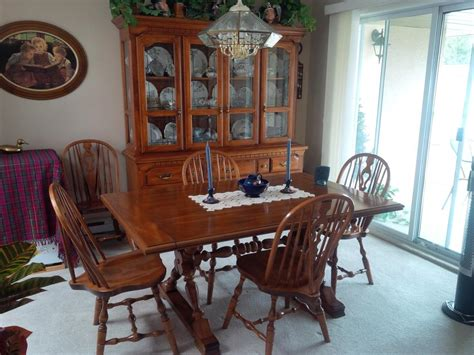 Dining Room Table Match Kitchen Cabinets Koehler Dining Room Table 10 Chairs Matching Buffet And