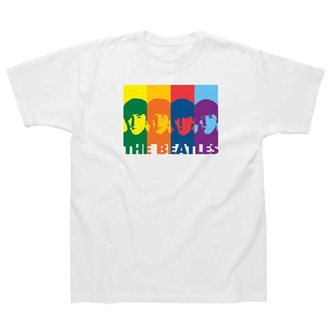 The Beatles Tees T Shirt the beatles retro rainbow t shirt