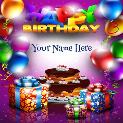 Happy Birthday Cards With Name And Photo Happy Birthday Cards Online Free Gangcraft Net