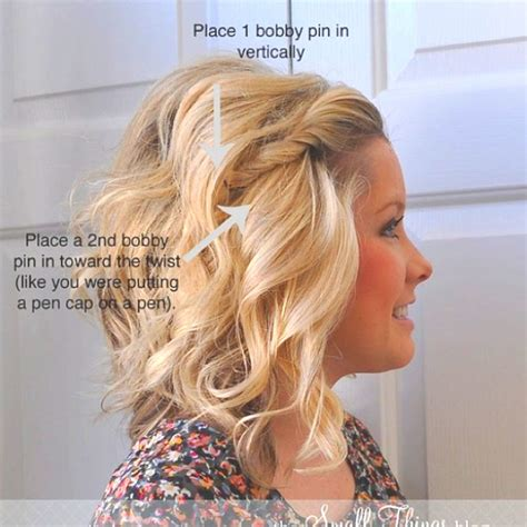 easy hairstyles with just bobby pins how to put bobby pins in a twist so they wont fall out or