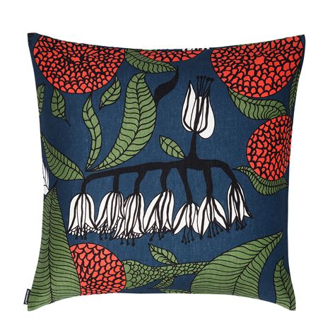 Marimekko Pillows Sale by Marimekko Kaino Blue Throw Pillow Marimekko Kitchen