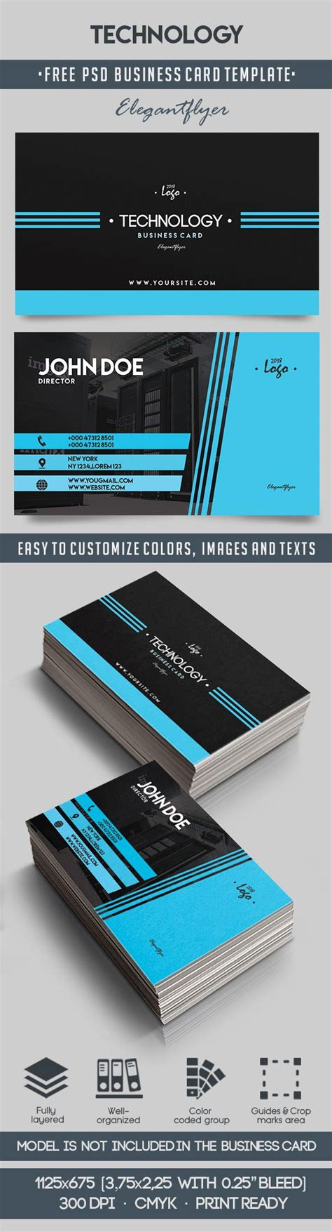 Photoshop Business Card Templates Technology by Technology Free Business Card Templates Psd By