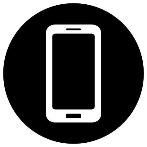 free black mobile clipart mobile icon white on black