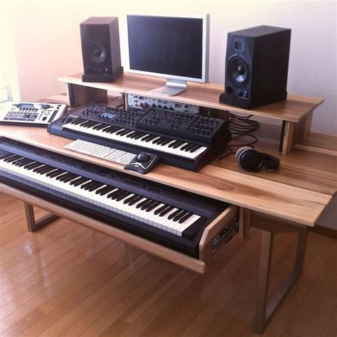 Hand Made Audio Video Production Desk W Keyboard Production Studio Desk