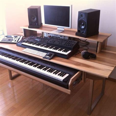 Hand Made Audio Video Production Desk W Keyboard Keyboard Studio Desk