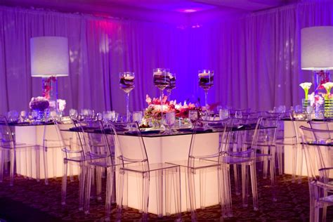 design my event table real stories modern light up glass tables and plenty of