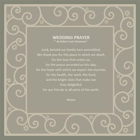 Wedding Blessing Robert Louis Stevenson by Wedding Poem Prayer Just B Cause