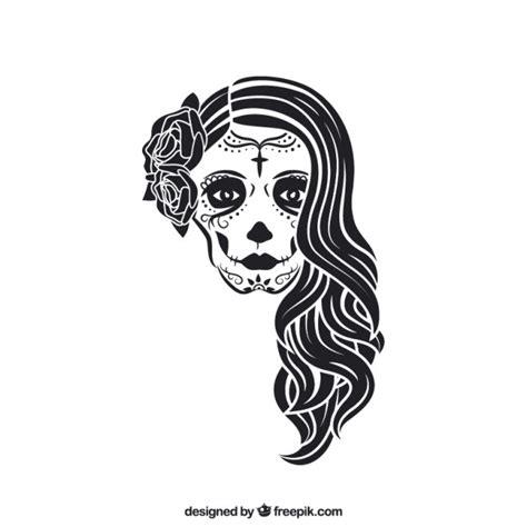 imagenes de calaveras femeninas la calavera catrina descargar vectores gratis