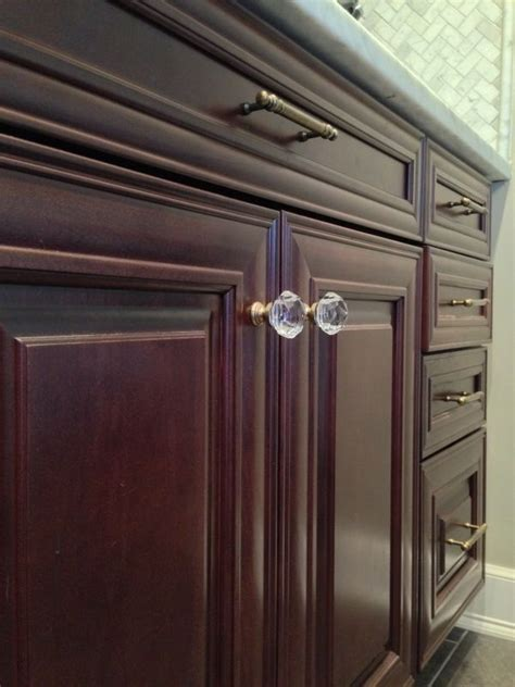 crystal kitchen cabinet knobs crystal and brass kitchen cabinet knob cabinet pull