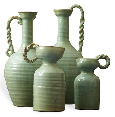 country vases country made celadon green terracotta vase set