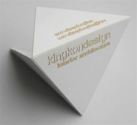Origami Business Cards - 30 unique minimal business card inspiration for designers