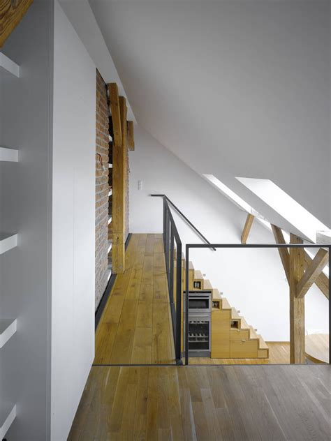 Attic Loft | small attic loft apartment in prague idesignarch