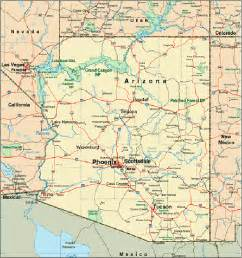 map of arizona for arizona map vacation idea