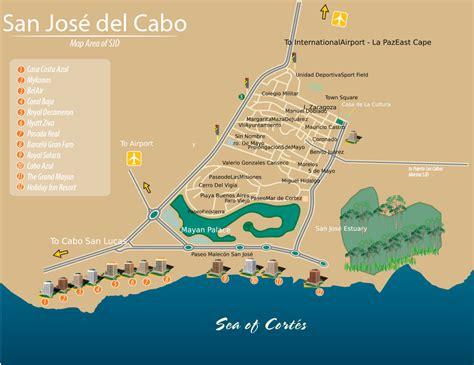 san jose airport hotels map san jose cabo bcs mexico map