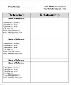 Reference Template by Reference Sheet Template 9 Free Sles Exles Format