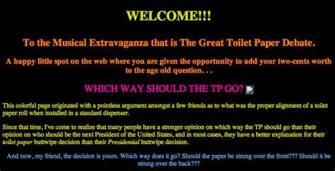 great toilet paper debate   meme