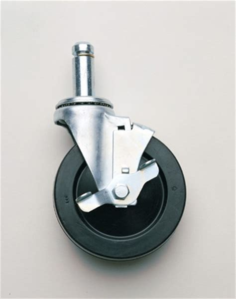 5mb metro stem swivel caster with brake metro shelving