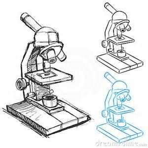 microscope drawing set royalty free stock image image