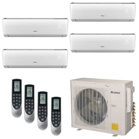 ductless mini split gree multi 21 zone 34000 btu 3 0 ton ductless mini split