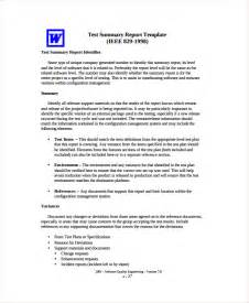 Report Testing Template by Sle Test Report Template 9 Free Documents