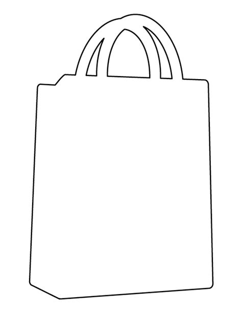 shopping bag template shopping bag pattern use the printable outline for crafts