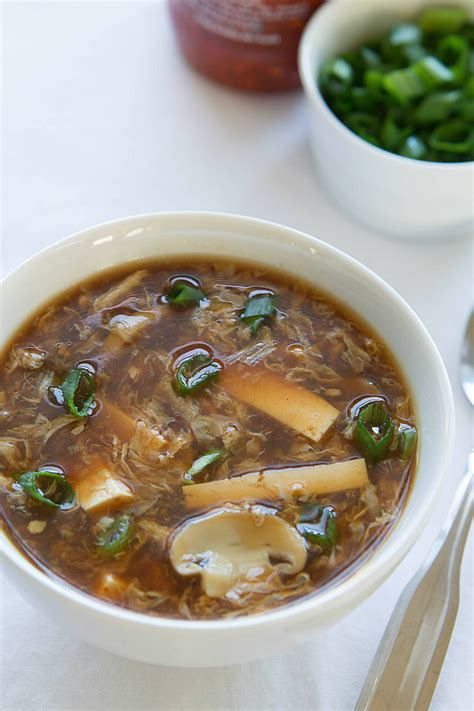 vegetarian and sour soup recipe and sour soup recipe vegetables and