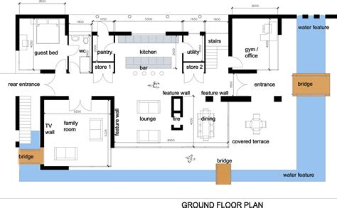 modern open floor house plans house interior design modern house plan images
