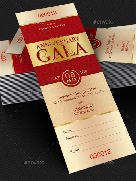9 sle ticket invitations psd vector eps