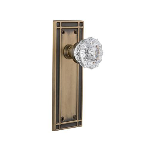 Plate Glass Door Prime Line Brass Glass Knob 2 Pack E 2279 The Home Depot