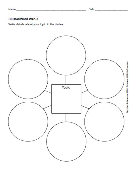 Graphic Organizers Teaching Tools Pinterest Graphic Organizers Students And School Cluster Word Web Template