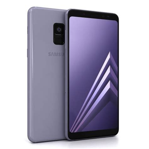 Samsung A8 2018 Orchid Gray 3d asset samsung galaxy a8 2018 orchid grey cgtrader