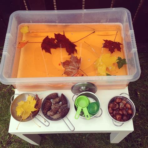 Autumn Years autumn leaf soup outdoor water tray activity general