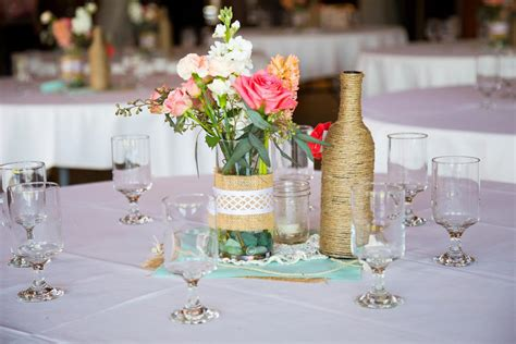 table arrangements ideas cheap bridal shower centerpiece ideas