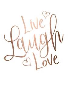 live laugh gold foil print printable wall live laugh