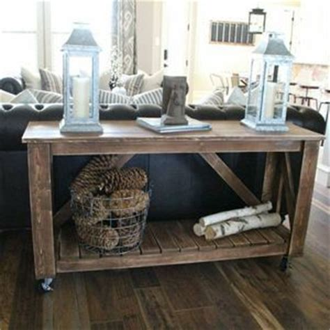 build your own sofa table build your own console table woodworking projects plans