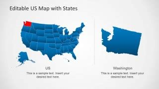 Us Map Template For Powerpoint With Editable States Slidemodel 50 States Powerpoint Template