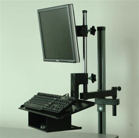 keyboard swing arm stackbin workbenches flat screen monitor arm w