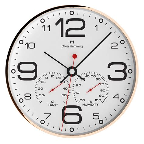 stylish wall clocks stylish 30cm weather station simplex wall clock white