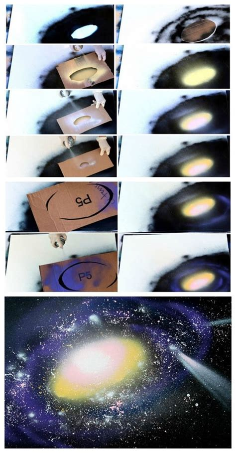 spray paint nebula diy galaxy projects nebula space and universe how to