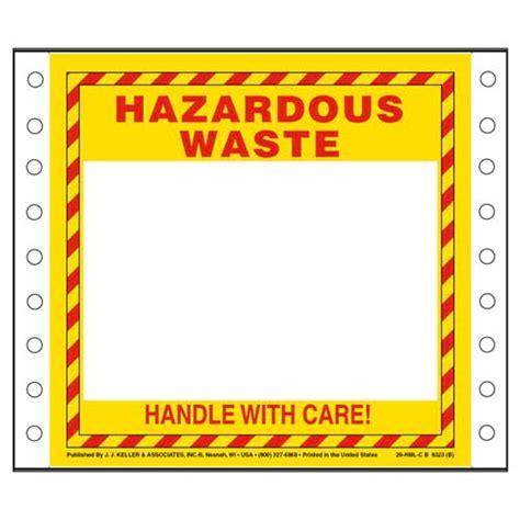 printable hazard label hazardous waste label