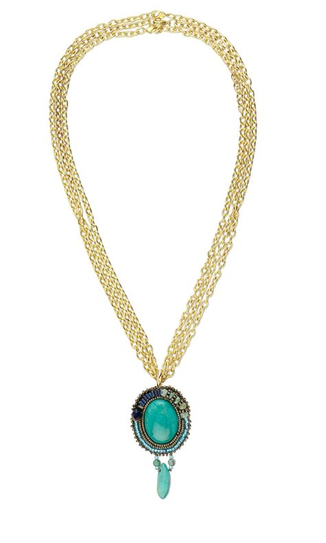 jewelry design maker jewelry design triple strand necklace with embroidered